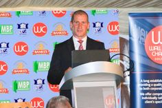 Stuart Lancaster speaking at recent event sponsored by Wall James Chappell