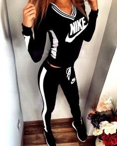 jumpsuit nike nike sportswear tracksuit joggers pants black high waisted pants leggings workout nike jacket