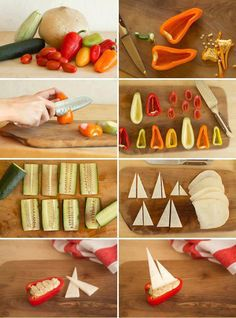 Pepper-boats. good idea for quick appetizers