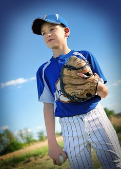 Baseball little league....we need to get this shot of Kameron.