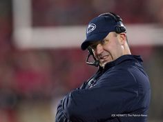 PENN STATE – FOOTBALL 2013 – Penn State vs Ohio State on October 26, 2013. Penn State head coach Bill O'Brien cringes during the fourth quarter at Ohio Stadium. Ohio State won, 63-14. Joe Hermitt, PennLive.com