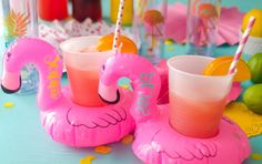 Flamingo cooler, Flamingo beverage hugger, Vegas bachelorette, Drink f… Pink Flamingo Party, Flamingo Float, Flamingo Birthday, Pink Flamingos, Flamingo Pool, Vegas Bachelorette, Bachelorette Party Themes, Pool Party Decorations, Vegas Party