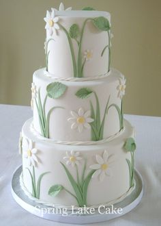 a small wedding cake, 4/6/8 inch tiers.  Fondant covered with...
