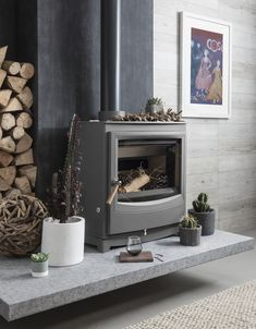 For the most efficient, economical and cleaner-burning stove to date, discover our Farringdon Catalyst Eco design. Log Burner Living Room, Modern Stoves, Multi Fuel Stove, Wood Burner, Modern Fireplace, Gas Stove, Living Spaces, Contemporary, Cherry Hill