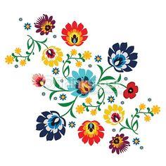 Traditionelle ungarische Folklore Stickerei Muster ...