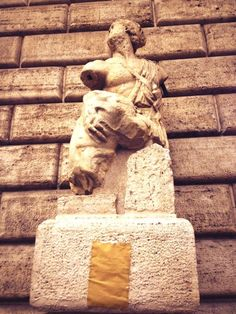 """""""It's nice to see a few old-school rebels are still posting directly onto Pasquino."""" Photo by @I_am_Italy, July 22, 2013."""