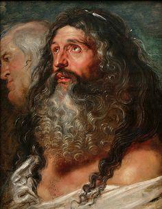 "Peter Paul Rubens ""Study of Two Heads"""