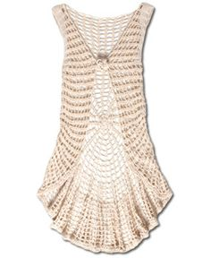 Soul Flower - NEW! Cascading Crochet Vest