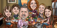 Custom Caricature From Photos Website - Personalized Custom Caricature Gifts Caricature Gifts, Caricature From Photo, Funny Retirement Gifts, True Art, How To Draw Hands, Website, Artist, Photos, Fictional Characters