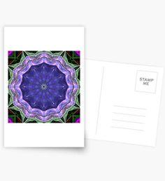 A Digital Mandala (Blue and Ultraviolet) Postcards