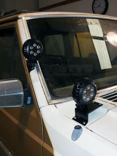 Fits XJ Cherokees from Rusty's Cowl Light Mounts provide a clean and easy way to mount off-road lights to the windshield cowl on XJ Cherokees or MJ Comanches! Jeep Xj Mods, Motorcycle Camping, Camping Gear, 4x4 Accessories, Jeep Wrangler, Jeep Jeep, Toyota 4x4, Jeep Parts, Cool Jeeps