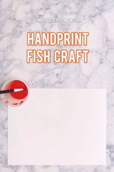 Fish Handprint Craft For Kids | Children of all ages will love making this easy ocean art. It's the perfect art activity for an ocean or under the sea theme unit studies. #kidscrafts #craftsforkids #kidsactivities #kidsandparenting #earlychildhood #kidsart #preschool #kindergarten #elementary #teacher #homeschooling