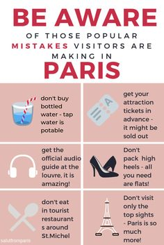 paris travel Most visitors are doing those silly mistakes - they cost them money, time and comfort! Read about the most common mistakes and avoid them! Traveling to Paris - get the best Paris tips on our page! Paris France Travel, Paris Travel Guide, Travel List, Travel Advice, Travel Packing, Goa Travel, Travel Capsule, Travel Outfits, Travel Wardrobe