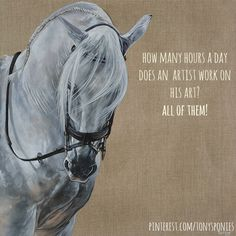 How many hours a day does an artist work on his art? Tony O'Connor Equine Art whitetreestudio.ie