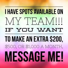 I'm looking for ambitious team members to join me in ROCKING this business!  This company is changing my family's future.  Such a blessing!  Email me to chat: DeFilippisJL@gmail.com!