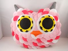 handmade stuffed toy owl pillow owl plush b e l l a m i n a' s owl pillow