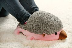 hedgehog baby usb heating soft warm shoes