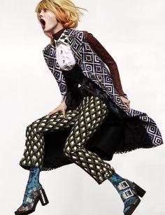 fashion editorials, shows, campaigns & more!: jump: monika jagaciak by greg kadel for numero september 2012 Fashion Shoot, Look Fashion, Editorial Fashion, High Fashion, Fashion Beauty, Autumn Fashion, Fashion Outfits, Fashion Design, Daily Fashion