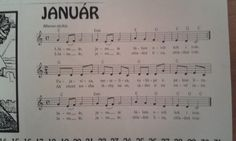 Január Sheet Music, Education, Teaching, Educational Illustrations, Learning, Onderwijs