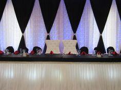 Black, white and red wedding backdrop design done through WEDS by Mega City #wedding #decor #backdrop