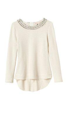 Rebecca Taylor embellished tweed top.