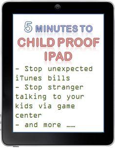 How to child proof iPAD