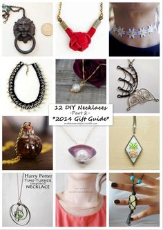 12 Favorite DIY Necklaces. Part 2. Part 1 is here. Annual Gift...