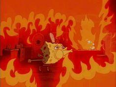 spongebob, squarepants, oh, god, my animated GIF Spongebob Memes, Cartoon Memes, Spongebob Squarepants, Funny Memes, Spongebob Cartoon, Cartoons, Funny Gifs, Jokes, Fire Animation