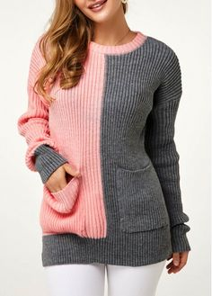 New Arrival | Liligal.com Trendy Tops For Women, Cardigans For Women, Ladies Sweaters, Stylish Tops, Knit Fashion, Sweater Fashion, Trendy Fashion, Black Long Sleeve Dress, Diy Clothing