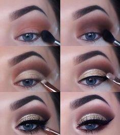 aqui podras encontrar este maquillaje super facil paso a paso