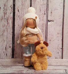 Art doll Tilda doll Winter doll handmade by AnnKirillartPlace