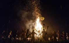 Minsk, Belarus: Young people wearing traditional costume dance around a bonfire as they celebrate Ivan Kupala night, an ancient heathen holiday Photograph: Maxim Malinovsky/AFP/Getty Images Witch Aesthetic, Book Aesthetic, The Scorpio Races, Maleficarum, Midsummer Dream, Pagan Festivals, Arte Obscura, Beltane, Summer Solstice