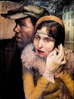Rudolf Bergander. From 1909 to 1970. Dresden. Couple the street. 1931 Neue Nationalgalerie Berlin.