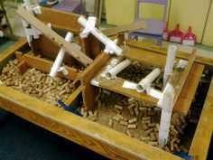 love this - awesome TeacherTom - need to convince colleagues to merge areas - construction in the sand