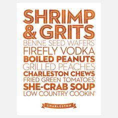 Charleston Food Favorites Print.