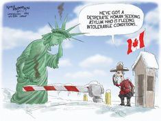 Trump Lackey Rewrites The Statue of Liberty Greeting To 'Huddled Masses' — Daily Sound and Fury Caricatures, Asile, Trump Wins, We Are The World, Political Cartoons, Journalism, Statue Of Liberty, Twitter Sign Up, Politics