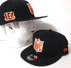 5aa2e85573c 1 CINCINNATI BENGALS NFL LOGO SNAPBACK HAT Black Orange NEW ERA 9FIFTY  Men Women