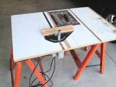 My Table Saw From A Circular Saw Redone