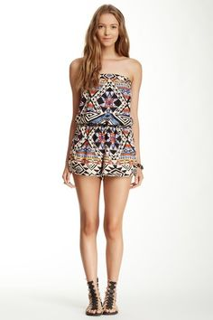 Strapless Printed Romper by Angie on @HauteLook