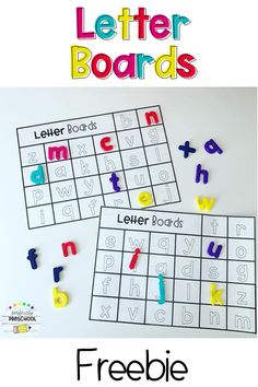 This freebie is perfect for matching magnetic letters and comes in a variety of styles! Kindergarten Readiness, Preschool Letters, Toddler Learning Activities, Preschool Learning Activities, Preschool Lessons, Alphabet Activities, Kindergarten Classroom, Teaching Resources, Teaching The Alphabet