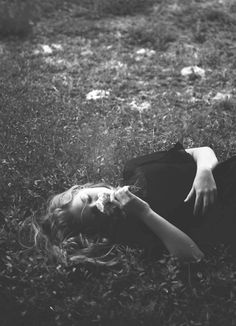 Lying in a field and smelling the flowers.❤•❦•:*´¨`*:•❦•❤