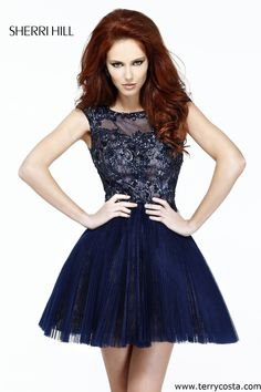 Sherri Hill 21032 on @Terry Song Costa - This Short Sherri Hill Dress style 21032 is absolutely stunning.