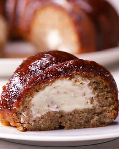 Cheesecake-stuffed Banana Bread Ring Recipe by Tasty