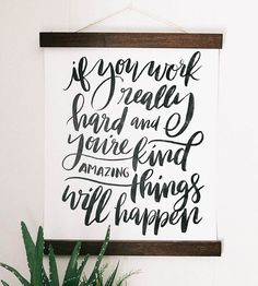 Amazing Things Canvas Wall Art by Jenny Highsmith Lettering on Scoutmob