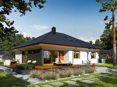 Archipelag namų projektai: Astrid M II - aprašymas - Archipelag My Home Design, Home Design Plans, House Design, House Plans 3 Bedroom, Bungalow House Plans, Log Homes, Gazebo, Exterior, Outdoor Structures
