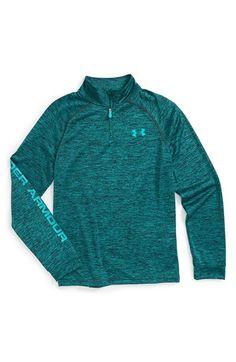 Under Armour HeatGear® Quarter Zip Tech Pullover (Big Boys) available at #Nordstrom