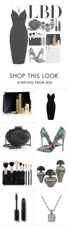 """""""Little Black Dress"""" by forever-lover1 ❤ liked on Polyvore featuring Yves Saint Laurent, Topshop, Christian Louboutin, Crespi, Chanel and David Yurman"""