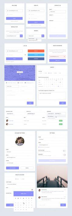 Epic UI Kit - Web Elements - 3 Mobile Web Design, Web Ui Design, Graphic Design, Ui Website, Bakery Website, Ui Prototyping, Ui Forms, Visual Hierarchy, User Interface Design
