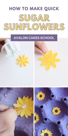 Whether you have a home bakery, own a storefront, or are a beginner baker and cake decorator, this mini sugar flower tutorial is for you. Grab our mini sugar sunflower tutorial for free! Avalon Cakes School, for intermediate and professional cake and cookie decorators, with hundreds of cake tutorials, cookie tutorials, and cake decorating masterclasses.