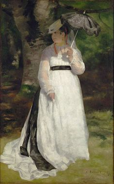 Lise (Woman with Umbrella) by Auguste Renoir from 1867, part of an exhibit called Impressionism, Fashion and Modernity